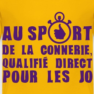 sport connerie qualifie jo chronometre Tee shirts - T-shirt Premium Enfant