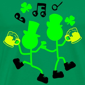 Cheers  Irish man shamrock Men's Classic T-shirt - Men's Premium T-Shirt