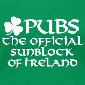 Pubs, the official sunblock of Ireland T-shirts - Vrouwen Premium T-shirt