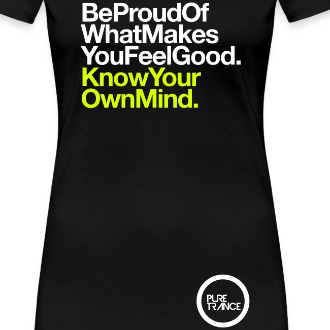 Be Proud... [Female] White / Neon Yellow