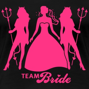 JGA - Team Bride - Braut - Security - Teufel 1C T-Shirts - Frauen Premium T-Shirt