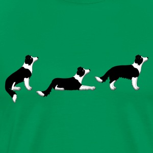 sit down up border collie Camisetas - Camiseta premium hombre