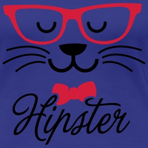 Swag hipsta hipster pussy cat animal style face T-shirts - Vrouwen Premium T-shirt