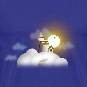 House in clouds - Day Tee shirts - T-shirt Premium Homme