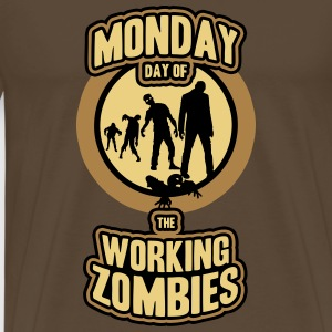 Monday day of the working Zombies T-Shirts - Männer Premium T-Shirt