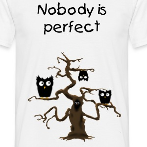 Nobody is perfect owl T-Shirts - Men's T-Shirt