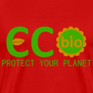 eco bio protect your planet Camisetas - Camiseta premium hombre
