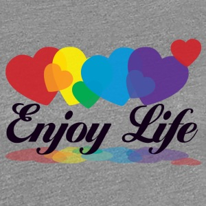 rainbow enjoy life T-Shirts - Frauen Premium T-Shirt