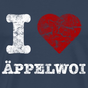 i_love_aeppelwoi_vintage_hell T-Shirts - Männer Premium T-Shirt