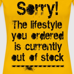 Lifestyle is out of stock (black) T-Shirts - Frauen Premium T-Shirt