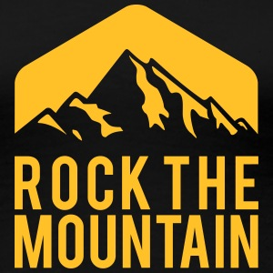 BERGSTEIGEN, ROCK THE MOUNTAIN T-Shirts - Frauen Premium T-Shirt