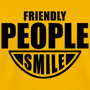 Friendly People SMILE Fun T-Shirt BY - Koszulka męska Premium