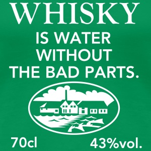 Whisky is water, Label T-Shirts - Frauen Premium T-Shirt