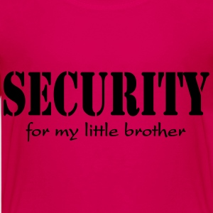 Security for my little Brother Magliette - Maglietta Premium per ragazzi