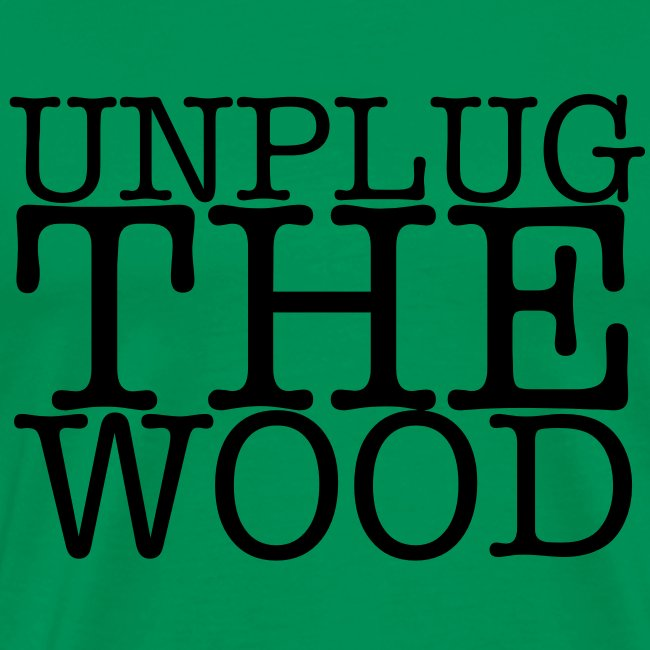 Unplug The Wood - T-shirt - Square Black - Mens