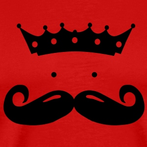 moustache king T-shirts - Mannen Premium T-shirt