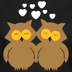 Lovely Owls in Love T-shirts - T-shirt dam