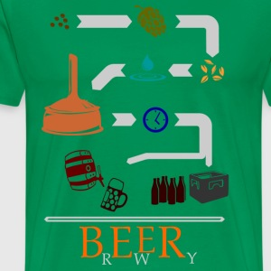The path of the beer in color  T-Shirts - Men's Premium T-Shirt