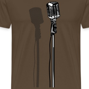 Novelty Retro Microphone from the 80s T-Shirts - Men's Premium T-Shirt