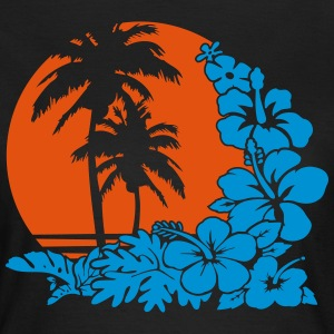 palm sunset ocean T-Shirts - Women's T-Shirt