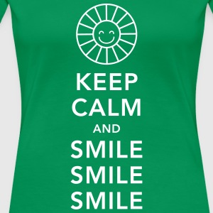 Keep calm and happy smile sunny spring summer sun T-Shirts - Women's Premium T-Shirt