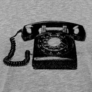 Vintage telephone  - Men's Premium T-Shirt