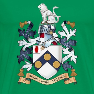 "James Bonds coat-of-arms and family motto ""The w - Men's Premium T-Shirt"