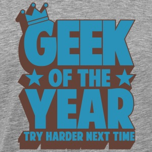 geek_of_the_year_02 T-shirts - Mannen Premium T-shirt