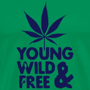 young wild and free weed leaf T-Shirts - Men's Premium T-Shirt