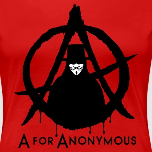 A for Anonymous 2c T-Shirts - Frauen Premium T-Shirt