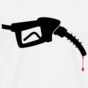 Gas Nozzle Blood (2c)++2013 T-shirts - Mannen Premium T-shirt