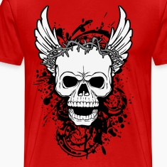 skull with wings T-Shirts