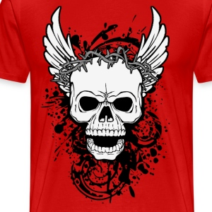 skull with wings T-Shirts - Men's Premium T-Shirt