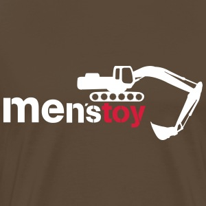 Men toy excavator  T-Shirts - Men's Premium T-Shirt
