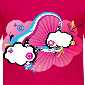 Pink Pop Clouds Tee shirts - T-shirt Premium Enfant