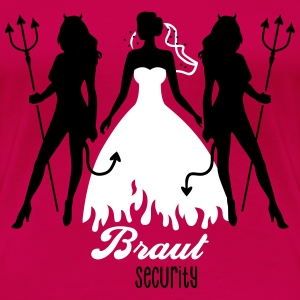 JGA - Braut security - Bride - Team - Teufel 2C T-Shirts - Frauen Premium T-Shirt