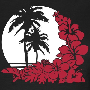 palm sunset ocean T-shirts - Dame-T-shirt