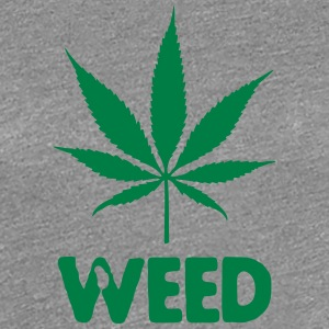 weed with leaf T-shirts - Dame premium T-shirt