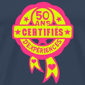 50 ans anniversaire certifie experience Tee shirts - T-shirt Premium Homme