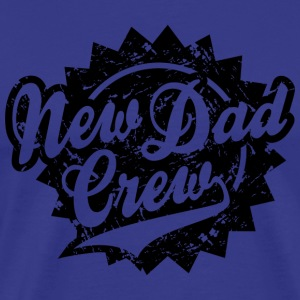 New Dad Crew Vintage Shield Design T-Shirt Black - Men's Premium T-Shirt