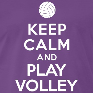 Keep calm and play Volley Tee shirts - T-shirt Premium Homme