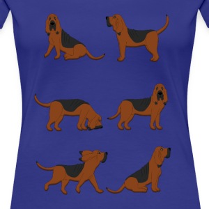 six bloodhounds T-skjorter - Premium T-skjorte for kvinner