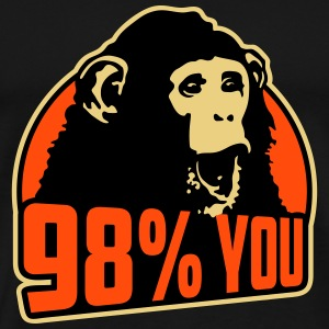98 percent you monkey T-shirts - Herre premium T-shirt