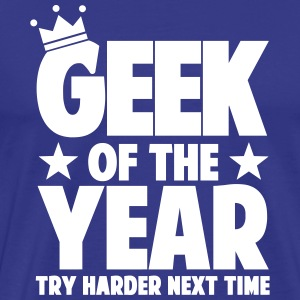 geek_of_the_year_01 T-shirts - Mannen Premium T-shirt