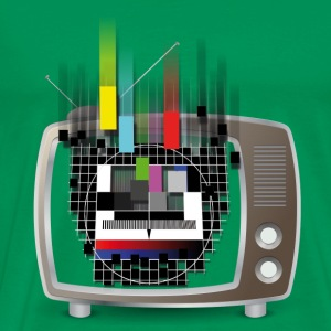 Flowing Test-Screen Retro TV T-Shirts - Männer Premium T-Shirt