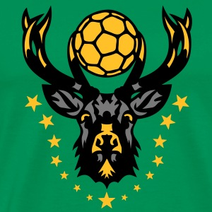 handball cerf bois logo animal deer 20