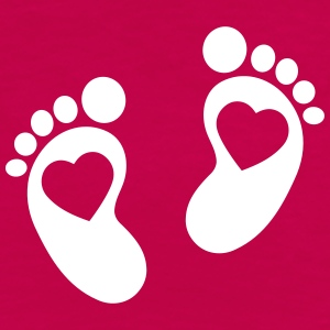 baby - feet - footprint T-Shirts - Women's Premium T-Shirt