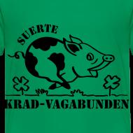 Motiv ~ Kinder-T-Shirt - Glücksschwein (schwarzer Aufdruck)