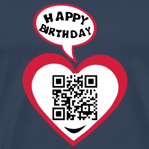 30 years big kisses code qr happy birthd Tee shirts - T-shirt Premium Homme