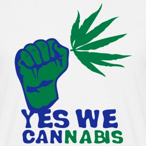 yes we cannabis marijuana poing fermer Tee shirts - T-shirt Homme